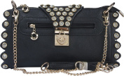 Arcadia U.S.A. Heart Turn Lock with Rhinestones Evening bag ZC3230-BK