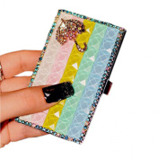 Shinning Gradient Blue Rhinestone Business Card Case/9.5x5.5cm