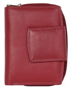 Women's Red Genuine Leather Wallet Without Any Logos or Markings