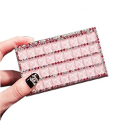 Shinning Pink Rhinestone Business Card Case/9.5x5.5cm