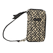 Bella Taylor Lamour Black Trellis All-In-One-Wristlet
