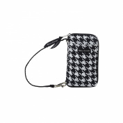 Bella Taylor Carmine Houndstooth All-In-One-Wristlet