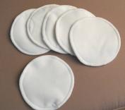 6 PCS Bamboo fibre Organic Reusable Breast Pads Waterproof