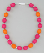 OLIVIA JUNIOR NECKLACE - STRAWBERRY & TANGERINE