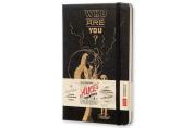 Moleskine Alice's Adventures in Wonderland Limited Edition Notebook, Large, Plain, Black, Hard Cover