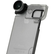 Olloclip Quick-Flip Case & Lens System for iPhone 5/5s - Silver/Black w/ Clear Case