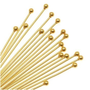 Gold Plated 2mm Ball Head Pins 21 Gauge 2 Inch