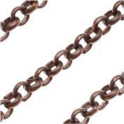 Vintaj Natural Brass 3.5mm Round Rolo Chain - Bulk By The Foot 82289
