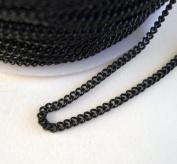 BeadsTreasure Black Coloured Chain Twist Curbe -3m