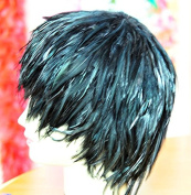 Black Hackle Feather Costume Wig Halloween Costume Coque Feather Wigs