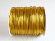 OLD GOLD 1mm Bugtail Satin Cord Shamballa Macrame Beading Nylon Kumihimo String