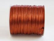 BROWN 1mm Bugtail Satin Cord Shamballa Macrame Beading Nylon Kumihimo String