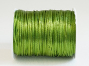 OLIVE GREEN 1mm Bugtail Satin Cord Shamballa Macrame Beading Nylon Kumihimo String