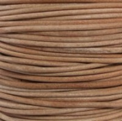 """#01 Natural Round Leather Cord 1mm (1/32"""") x 10 m"""