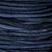 """#406 Natural Blue Round Leather Cord 1.5mm (1/16"""") x 10 m"""