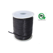 Round Leather Cord Black 1.5mm 25meters