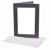 Tap Photo 4x6 Photo Insert Card-Charcoal 5 pk