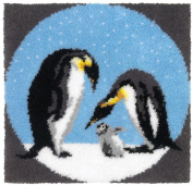 Penguin Family Latch Hook Rug Kit Latch Hook Rug Kit