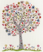 Bothy Threads LOVE TREE Cross Stitch Kit