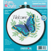 Dimensions Needlecrafts Counted Cross Stitch, Welcome Butterfly