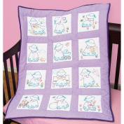 Jack Dempsey Stamped White Nursery Quilt Blocks, 23cm by 23cm , Sunbonnet Sue, 12-Pack