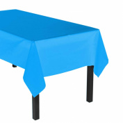 Party Essentials Heavy Duty Plastic Table Cover Available in 44 Colours, 140cm x 270cm , Neon Blue