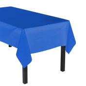 Party Essentials Heavy Duty Plastic Table Cover Available in 44 Colours, 140cm x 270cm , Royal Blue