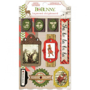 Bo Bunny Christmas Collage Self-Adhesive Layered Chipboard