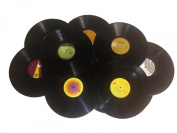 (12) 30cm Vinyl Records for Arts & Crafts Decoration - 1970's