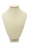 Medium Cream Linen Table Top Bust Mannequin Jewellery Display Retail Store