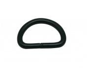 Generic Metal Black D Rings Buckle D-Rings 1.9cm Inside Diameter for Backpack Bag Pack of 30