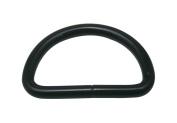 Generic Metal Black D Ring Buckle D-Rings 3.8cm Inside Diameter for Backpack Bag Pack of 10