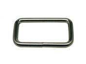 Generic Metal Silvery Rectangle Buckle 3.8cm X 2cm Inside Dimensions Loop Ring Belt and Strap Keeper for Backpack Bag Accessories Pack of 12