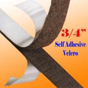 "3/4"" X 5 Yards 4.6m Black Self Adhesive Hook and Loop 20mm Stick Sticky Black on Tape [2 Yards (1.8m)]"