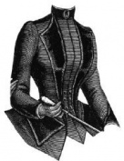 1887 Cloth Jacket with Velvet Lapels Pattern
