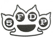 FIVE FINGER DEATH PUNCH 5FDP Knuckle Embroidered Metal Patch Approx