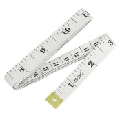 1.5M 150cm Soft Plastic Ruler Tailor Cloth Body Measure Measuring Flat Tape WHITE