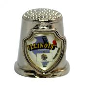 Souvenir Thimble - Illinois