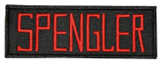 Ghostbusters Movie SPENGLER Uniform Name Chest PATCH
