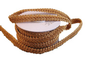 Old Gold Gimp Braid Trim, 1cm X 10Yd