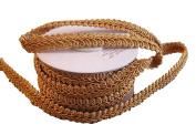 Old Gold Gimp Braid Trim, 1cm X 10Yd