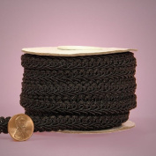 Black Gimp Braid Trim, 1.6cm X 10yd