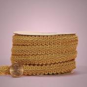 Old Gold Gimp Braid Trim, 1.6cm X 10yd