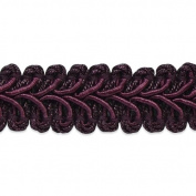 Expo International Alice Classic Woven Braid Trim, 20-Yard, Eggplant
