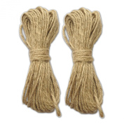 LWR Crafts Jute Rope 2mm 14m Per Pack (Pack of 2)