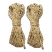 LWR Crafts Jute Rope 2mm 14m Per Pack (Pack of 2)