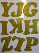 7.6cm Iron-On Letters in Gold Glitter