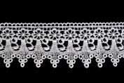 Altotux 7.6cm White Venice Lace Ribbon Trim By Yard