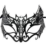 New Laser Cut Bat Venetian Mask with Rhinestones