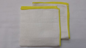 2-pack 28cm X 28cm 100% Bamboo Fibre Exfoliate Facial Washcloth Exfoliator Kitchen Cloth Dish Cloths Dishcloth